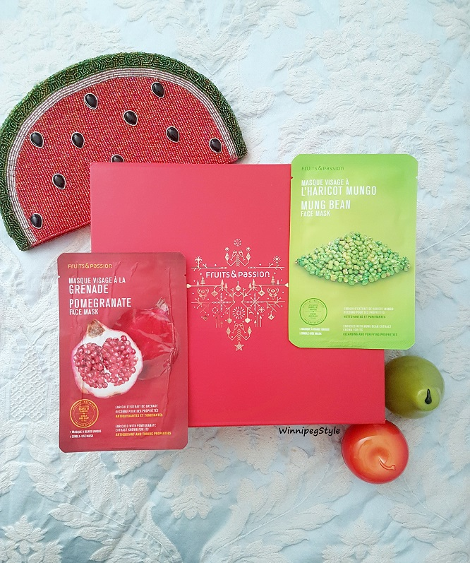 Winnipeg Style, Canadian Fashion Stylist consultant, Canadian blog, Fruits and Passion Canadian body and home care products, face masks, pomegranate, mung bean