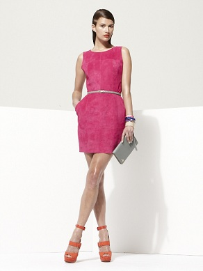 Object by George Antonopoulos for Danier Suede dress