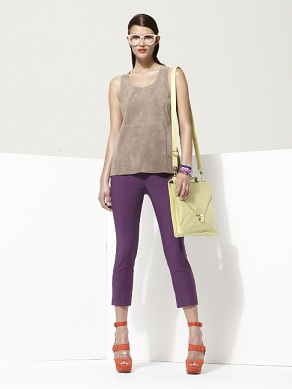 Object by George Antonopoulos for Danier Suede cropped pants